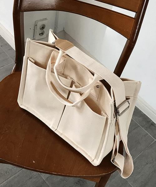 Pocket Canvas Shoulder Tumbler Eco Bag 帆布包