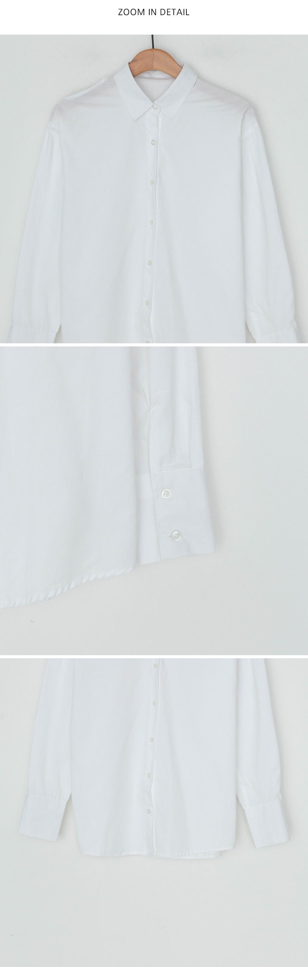 Clean cuff sleeve cotton shirt