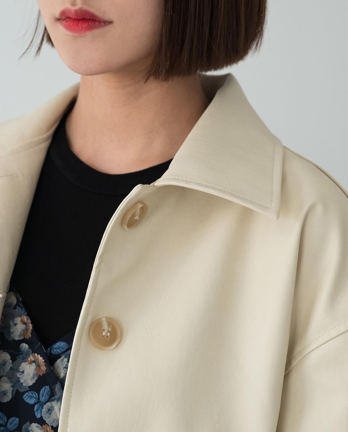 Daily Karaneck Leather Jacket