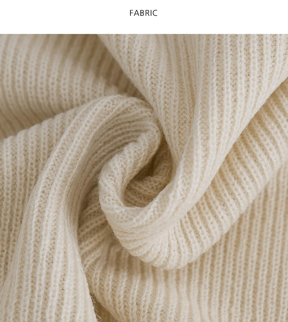 Push V-Neck Ribbed Knitwear Vest