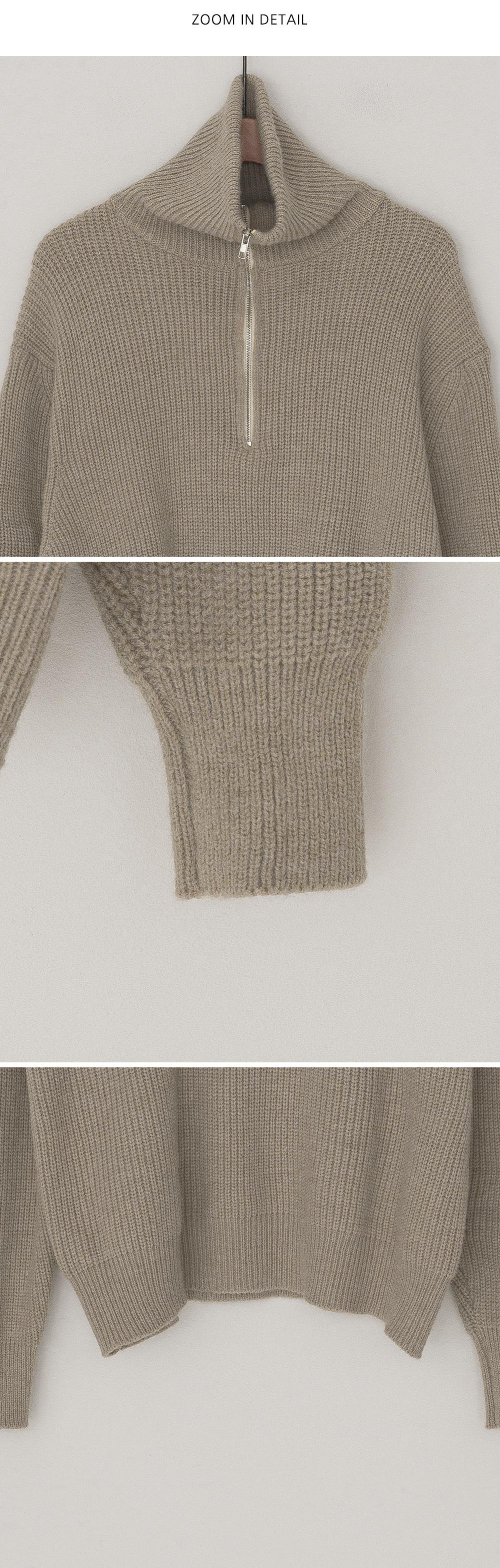 Need Half Zip Up High Neck Knit