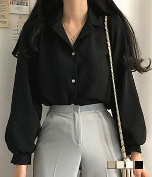 Paris soft touch collar blouse