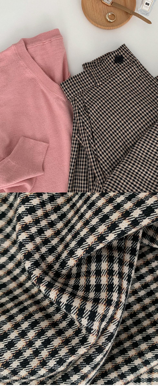 #MADEAWAB:_Mani check long skirt