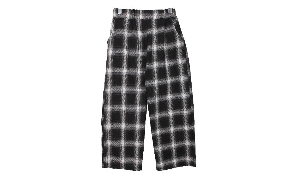 Vintage Wide Check Banding Pants