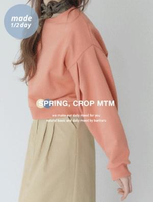 韓國空運 - Elfin Pintuck Crop Sweatshirt 長袖上衣