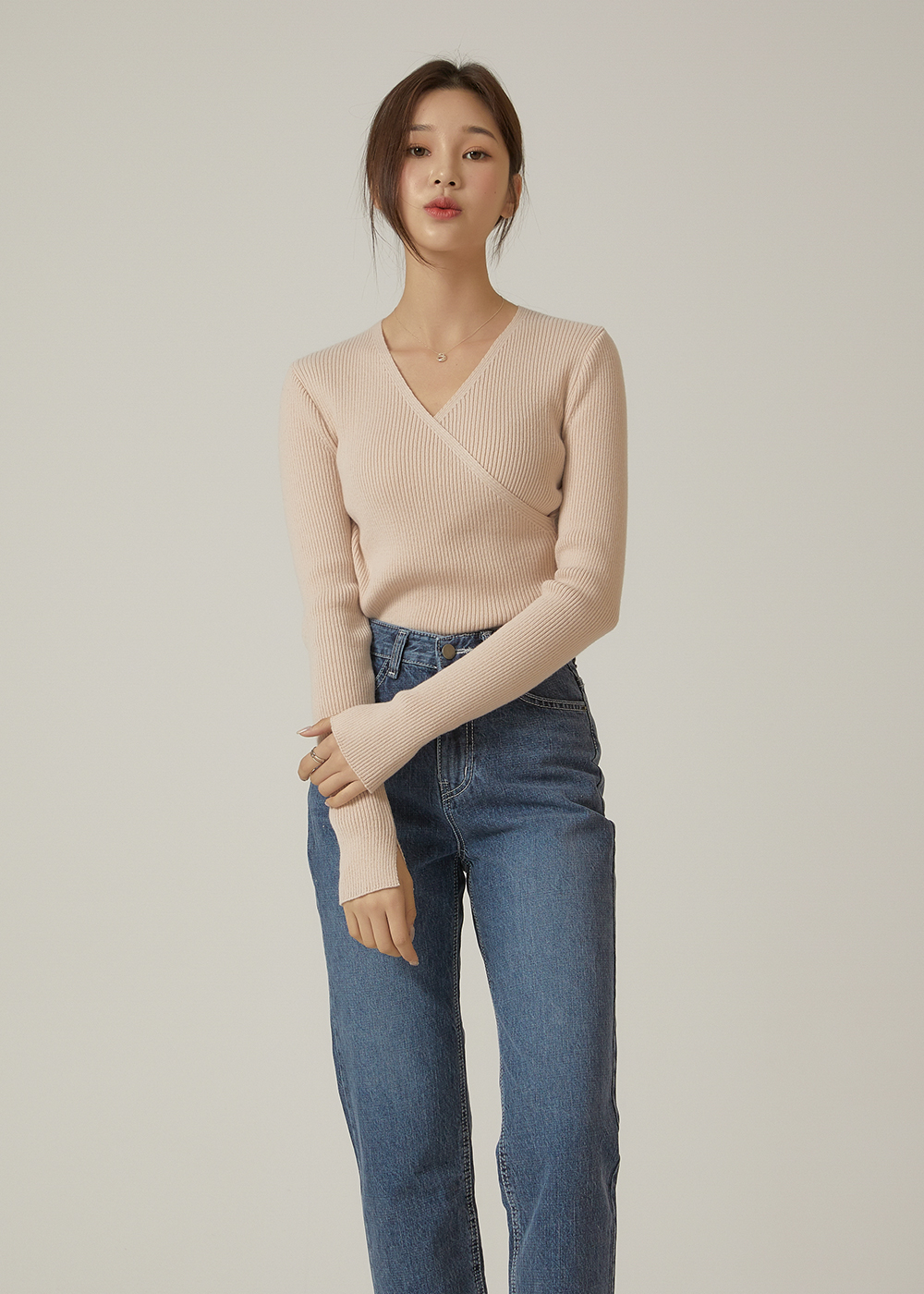 Style Ribbed Wrap Knitwear