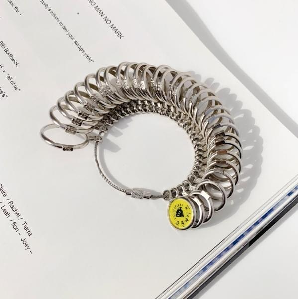 US standard ring size measurement number measuring instrument ring gauge silver