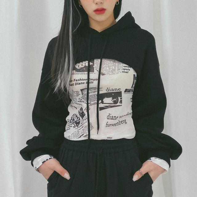 Cropped irene hooded Sweatshirt