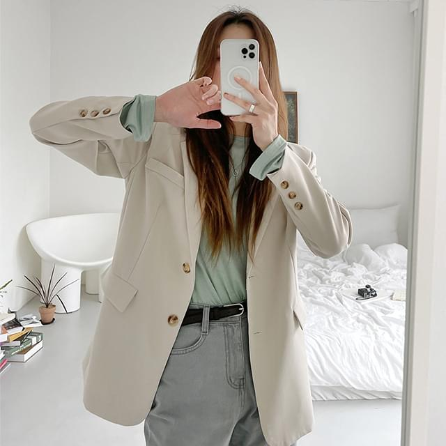 Mystic Loose-fit Two Button Jacket 夾克