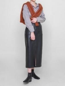 Boyle leather skirt