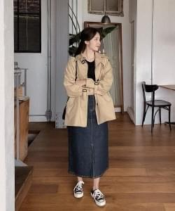 Fever short trench jacket-3color