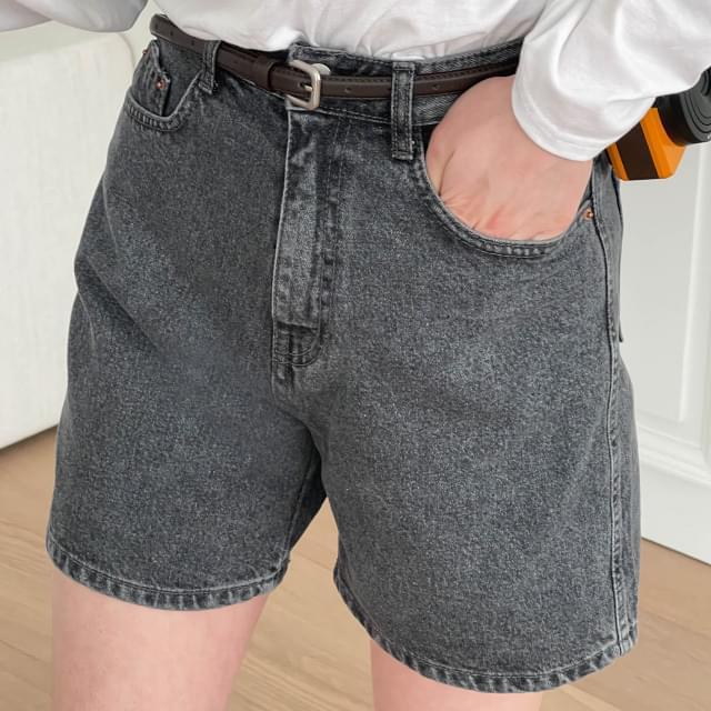 Georgia Faded Denim Short Pants