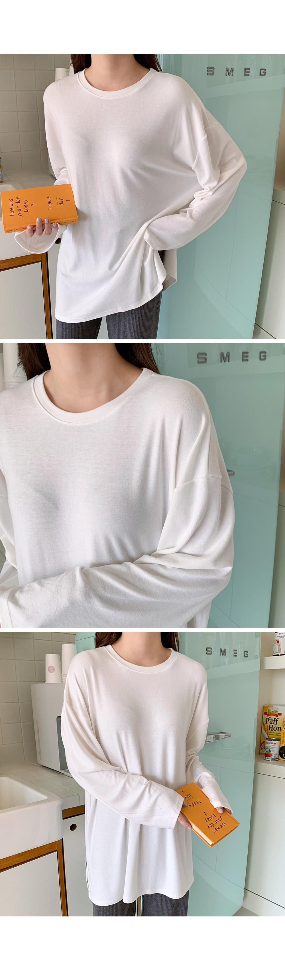 Long box, long sleeve T, good length to layer: D