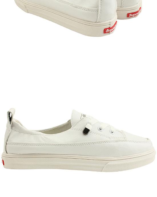 Minimalist casual white sneakers