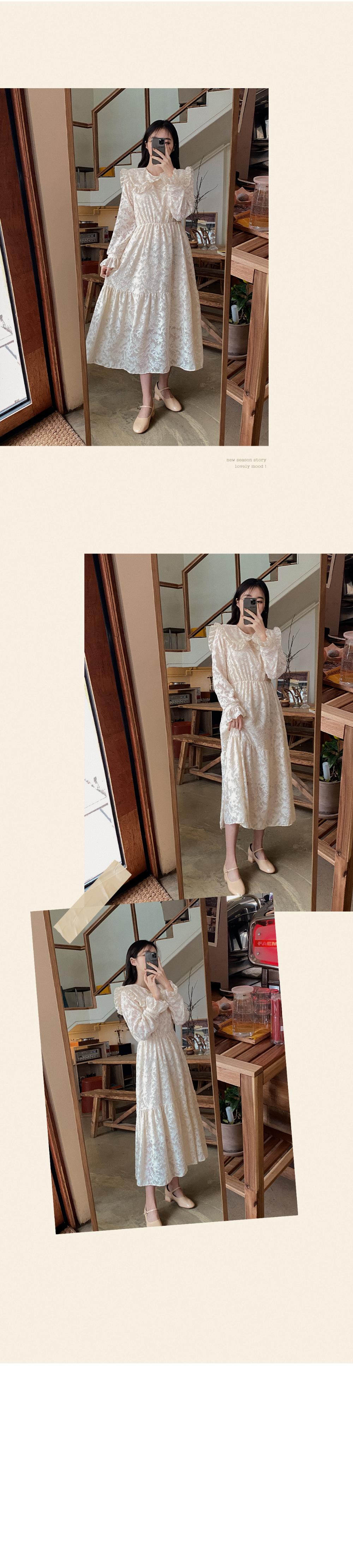 Shallow Lace Dress -2color