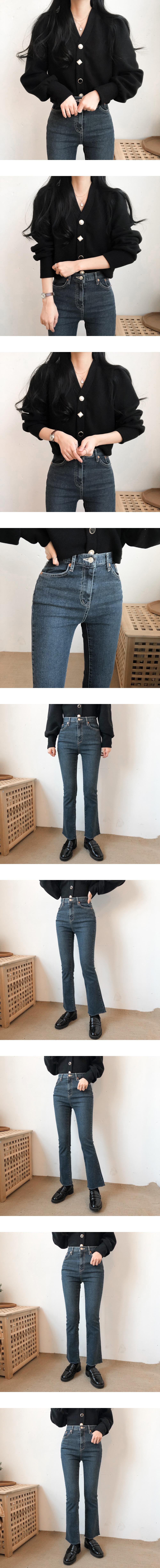 9529 semi-boots cutting denim pants