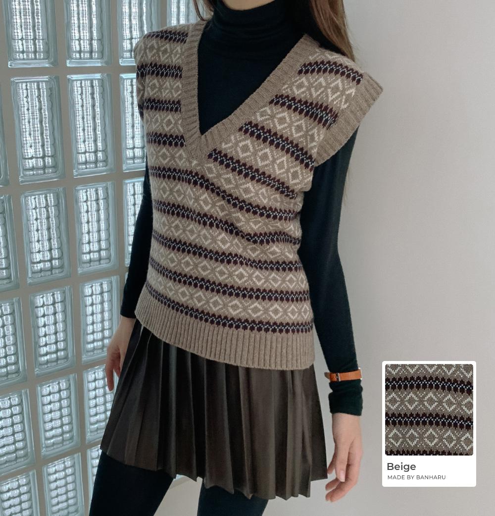 Very Jazzy Wool Knit Vest