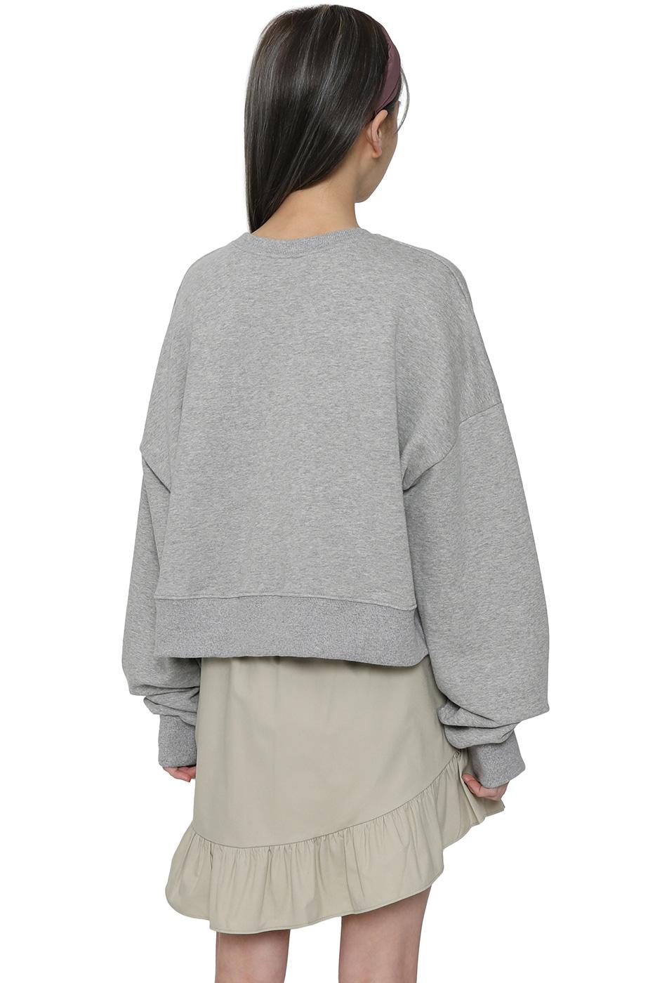 Denny cropped crew neck sweatshirt