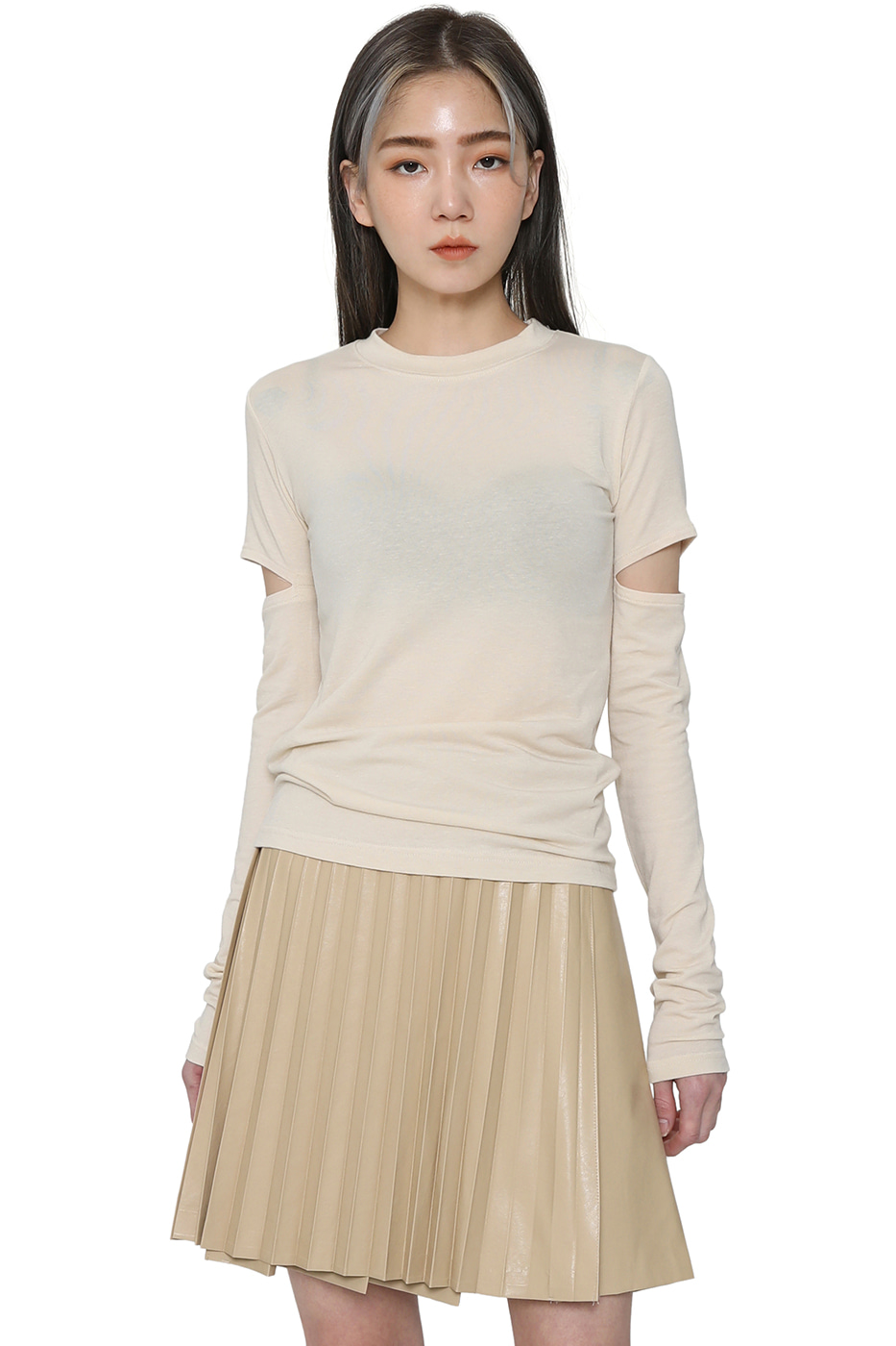 Face cut-out slim top