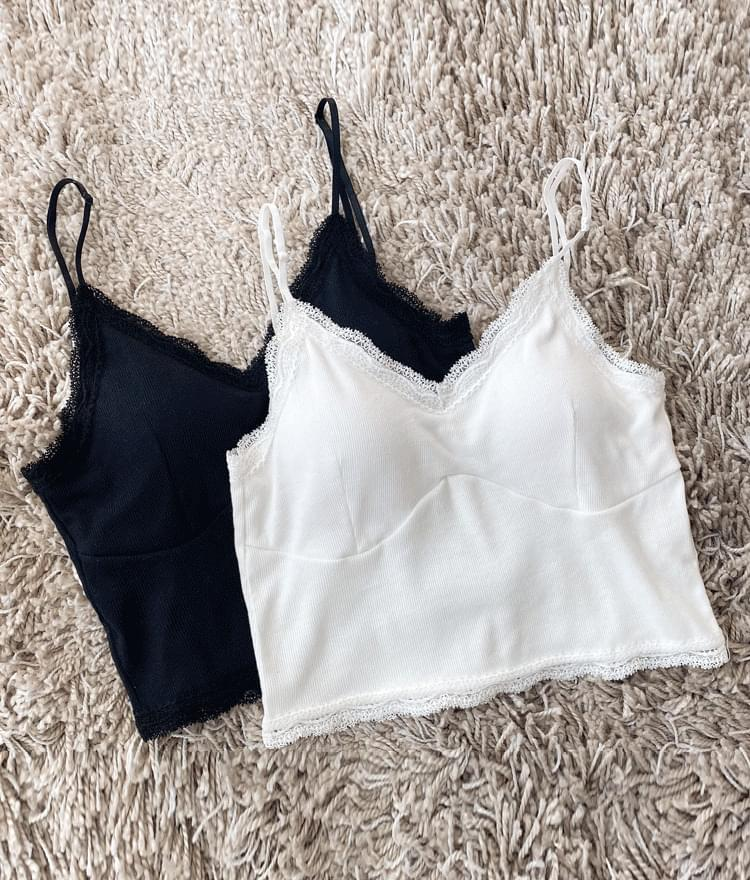 Lace-Trimmed Crop Camisole