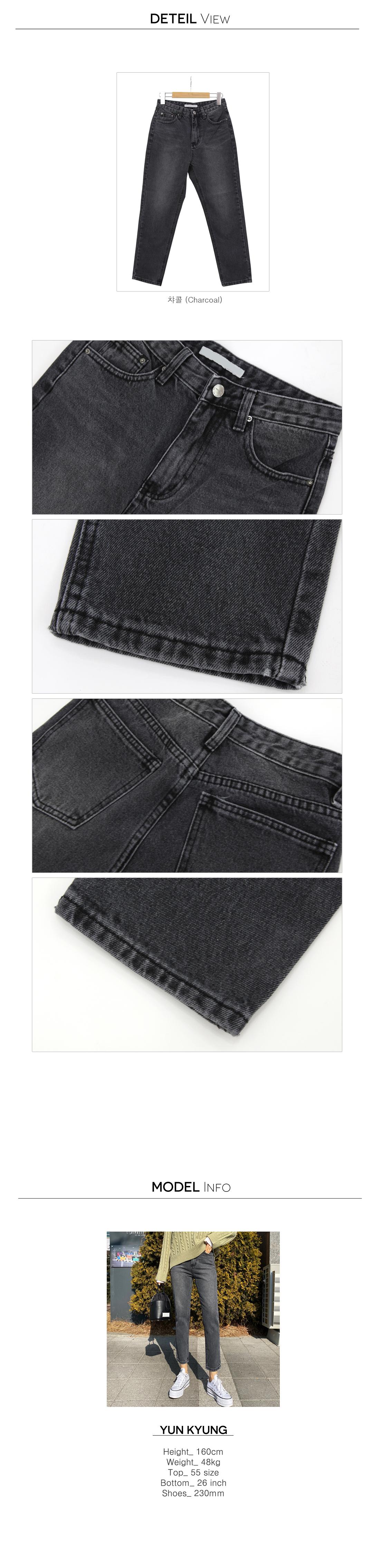 Black Denim Monday Boy Fit Straight Jeans