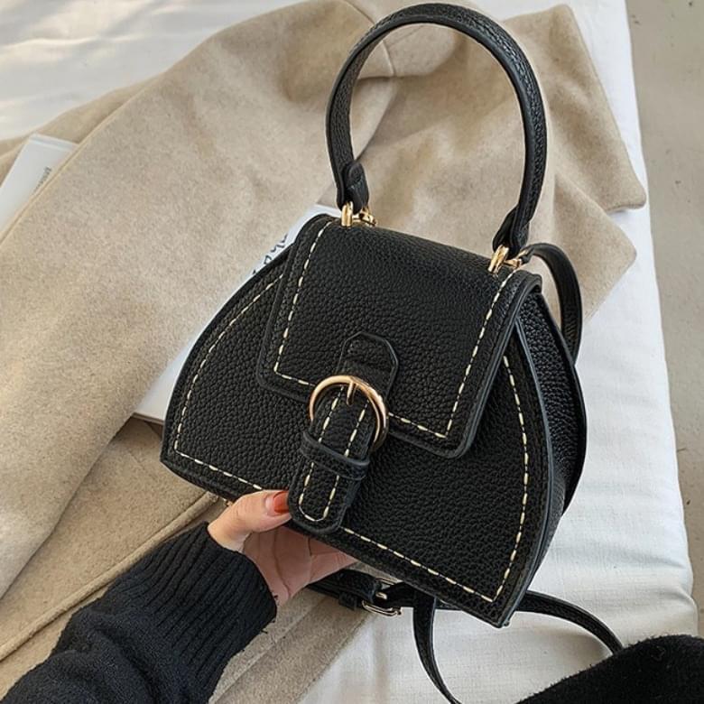 Basic Stitch Bucket Cross Shoulder Bag