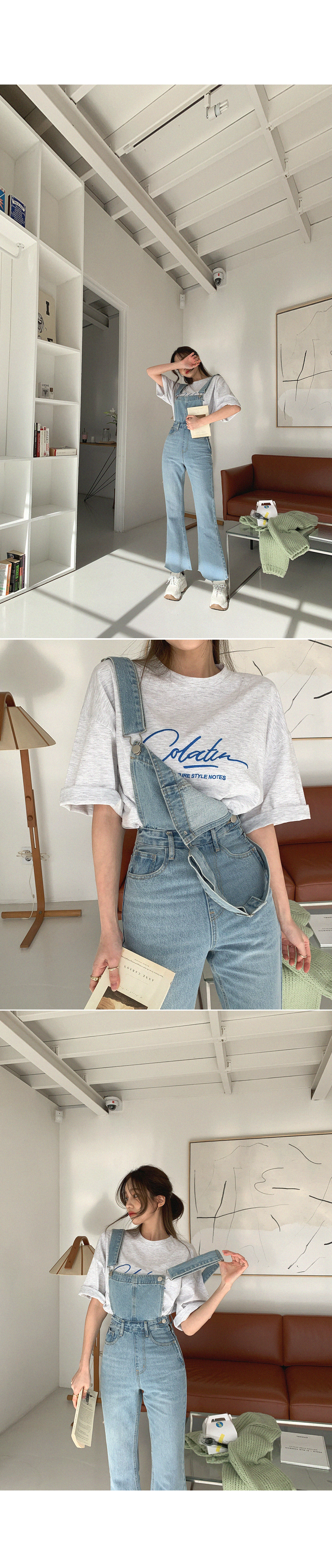Lettering short-sleeved T-shirt that caught my eyes