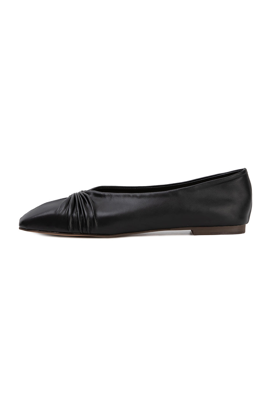 Sera shirred flat shoes