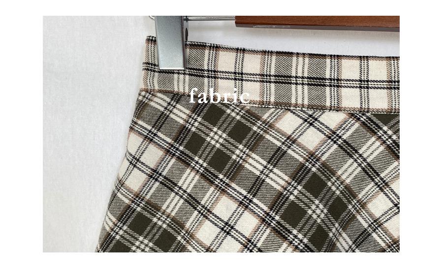 Lovelyz flared check skirt