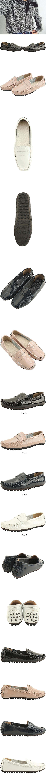Cowhide Enamel Driving Shoes Black