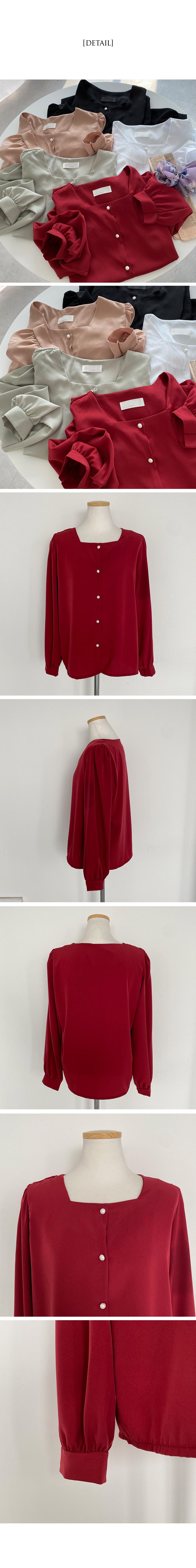 Cha Cha square-neck chiffon blouse