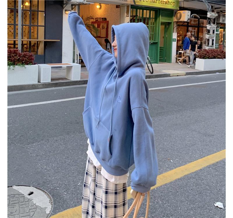 mh2705 color loose Loose-fit hoodie