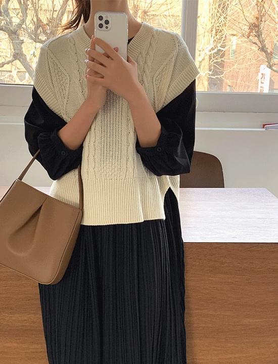 韓國空運 - Fisherman Knitwear Vest 針織衫