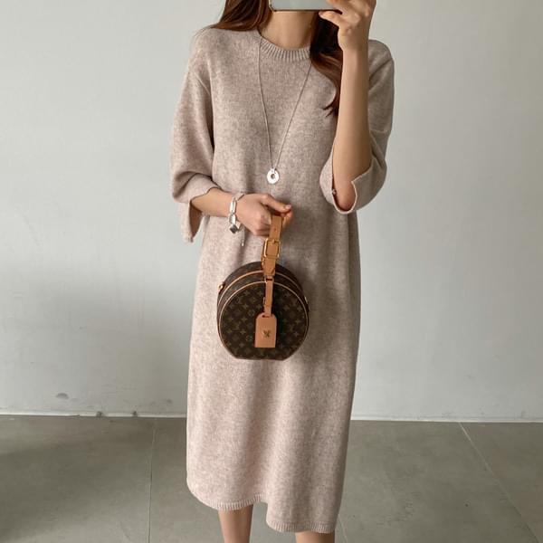 Rams Wool Knitwear Dress #37831