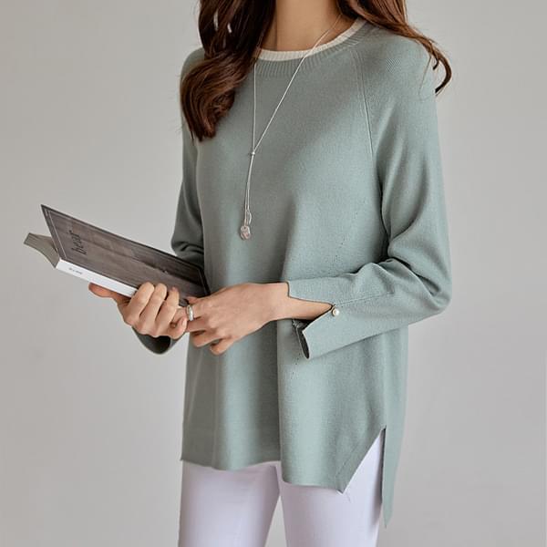 Pearl Split Sleeve Knitwear #108839