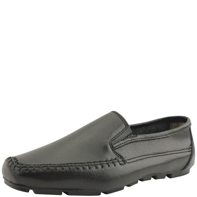 Cowhide Comfort Slip-on Loafers Black