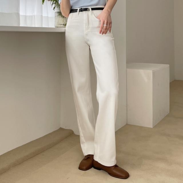 Cantata high-waist cotton pants