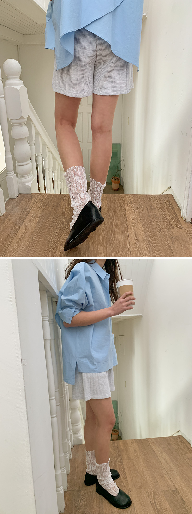 Lovely Shirring Lace Socks