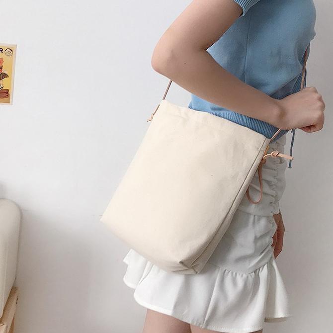 Casual Canvas Basic Tote Shoulder Bag