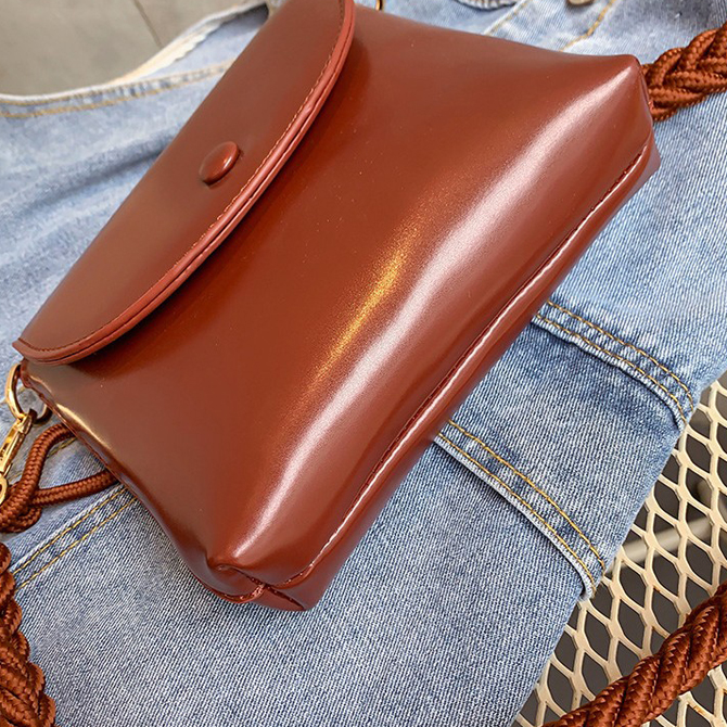 Simple Twist Shoulder Square Mini Shoulder Bag