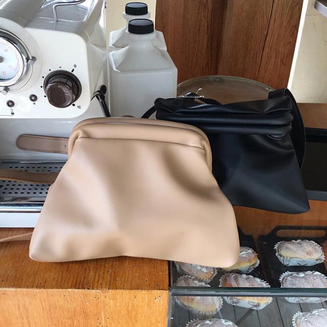 Basic Plain Simple Soft Shoulder Bag