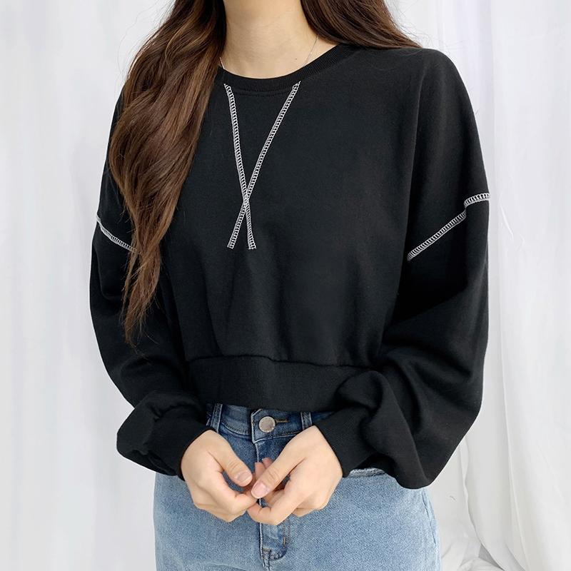 Stitch Mort Crop Sweatshirt