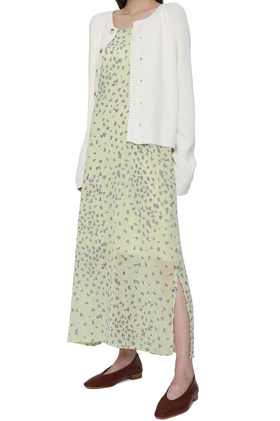 Rose slip floral maxi dress