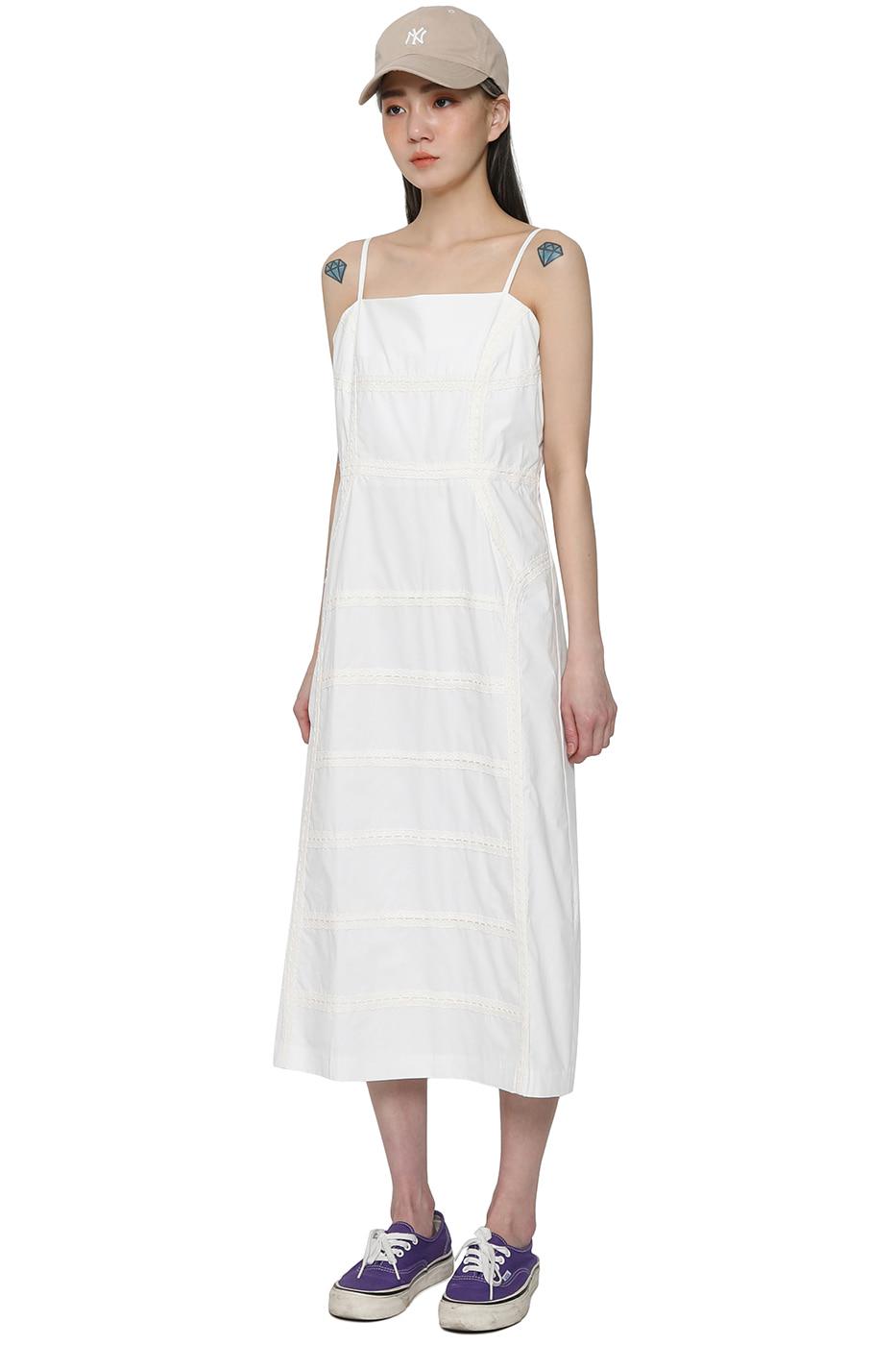 Four-in-one lace slip midi dress
