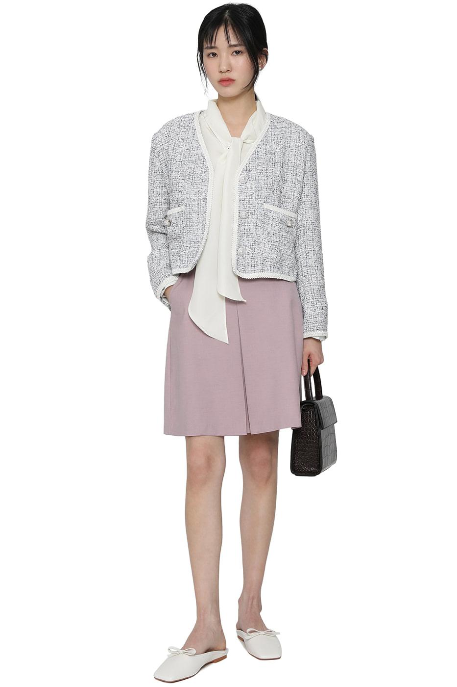 Pastel box pleated mini skirt