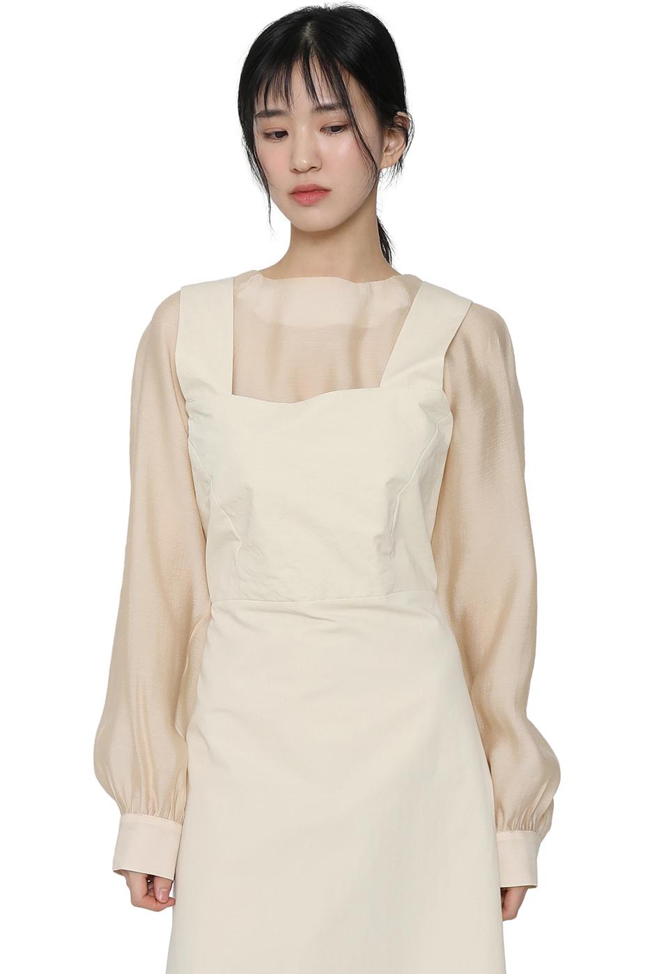 Lunch square-neck maxi dress