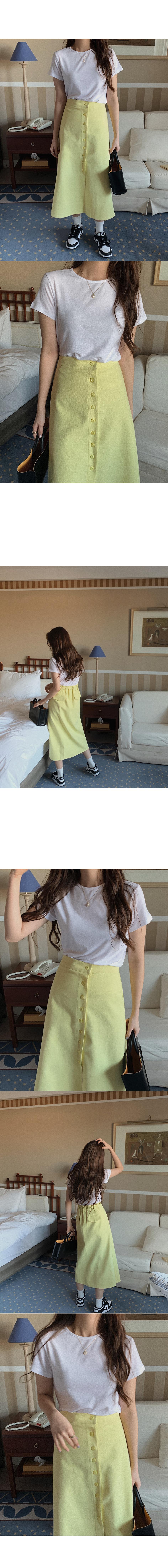 Plina buttoned skirt