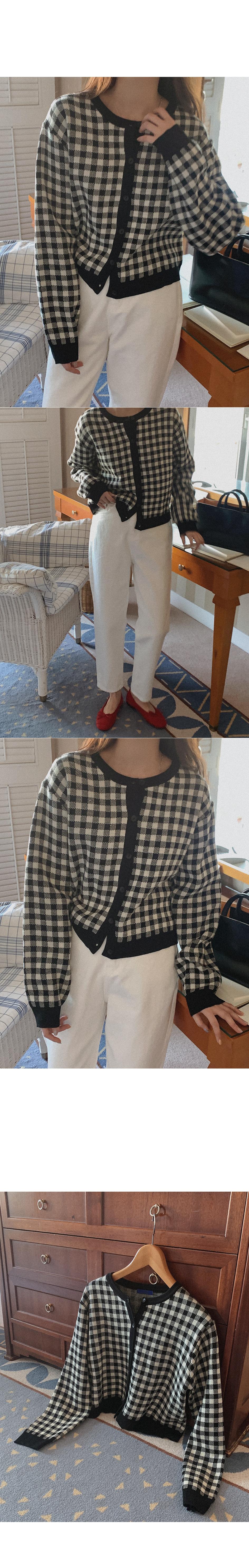 Mefalls check cardigan