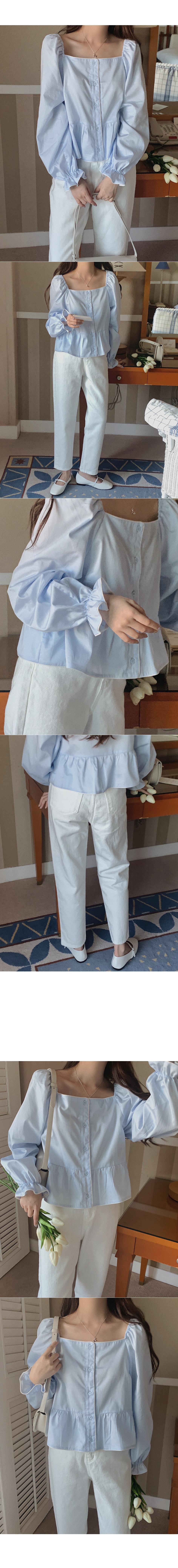 Osley shirred blouse