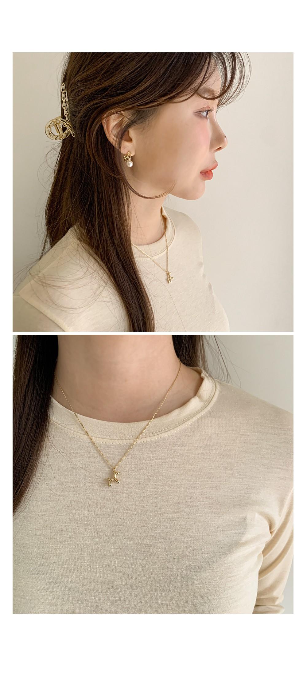 Poodle necklace